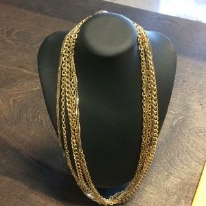 Vintage Gold Tone 5 Strand Necklace